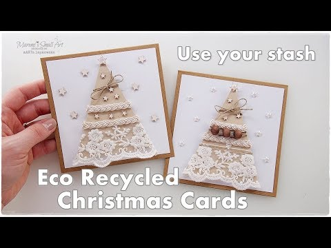 Recycled ♡ Eco Stunning Christmas Cards ♡ Maremi's Small Art ♡