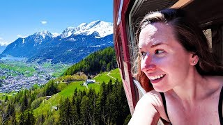 Americans visit BEAUTIFUL Switzerland by TRAIN! 🚂 A Guide to taking the Bernina Express