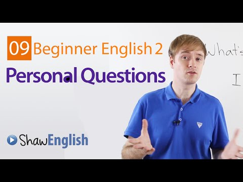 Asking Personal Questions in English
