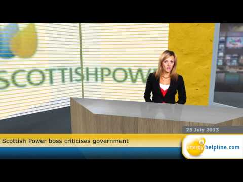 Scottish Power boss criticises government