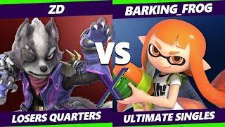 Smash Ultimate Tournament - Demise   ZD (Wolf, Fox) Vs Barking_Frog (Inkling) S@X 316 Loser Quarters