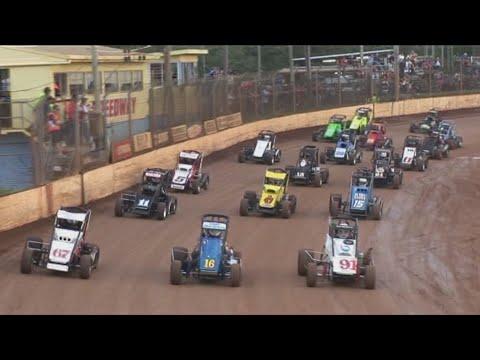 2008/09 Queensland Speedcar Title (Night 1): Maryborough Speedway   11th April 2009 - dirt track racing video image