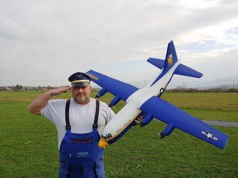 Avios C-130 FAT ALBERT Blue Angels Hercules 1.6m PNF Maiden flight - UC3RiLWyCkZnZs-190h_ovyA