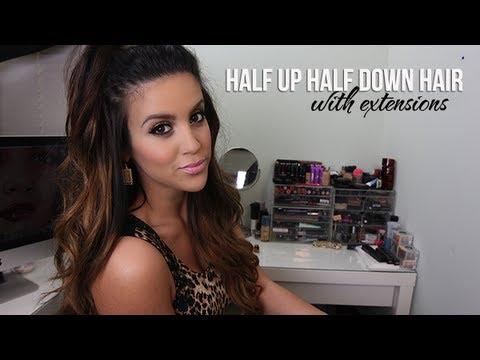 Half Up Half Down Hair with Extensions - UCz0Qnv6KczUe3NH1wnpmqhA
