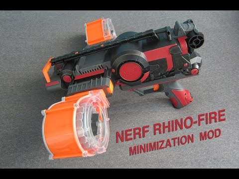 NERF RHINO-FIRE MOD [MINIMIZATION AND NEW HANDLE]