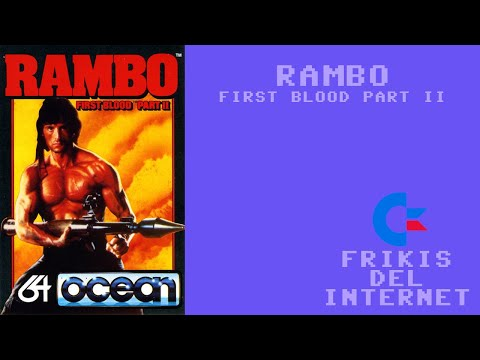 Rambo - First Blood part II (c64) - Walkthrough comentado (RTA)