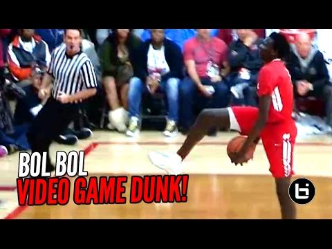 Bol Bol Hits The Eastbay Dunk In Game!!