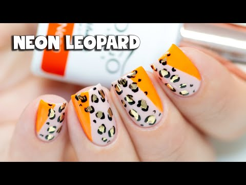 EASY NAIL ART FOR BEGINNERS - Neon Leopard Print