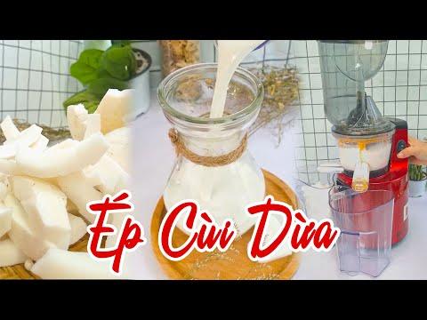 Ép Cùi Dừa Đơn Giản Với Máy Ép Trái Cây Mishio MK60 | #Shorts