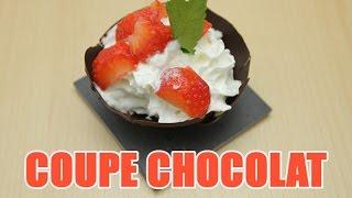Recettes de cuisine : Minute Cuisine Décoration en chocolat : Coupe Choco chantilly et Mikado fait maison en vidéo