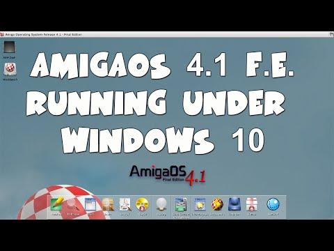 AmigaOS 4.1Running under Windows 10