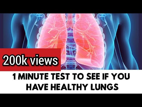 1 Minute Test to check your Lungs | Everyday Practice to Increase oxygen Level | Test for Immunity