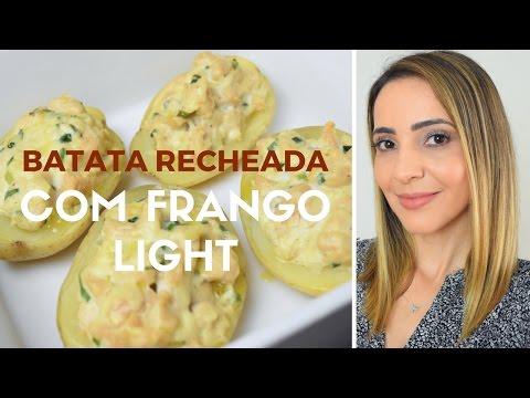 Receita: Batata Recheada com Frango Light