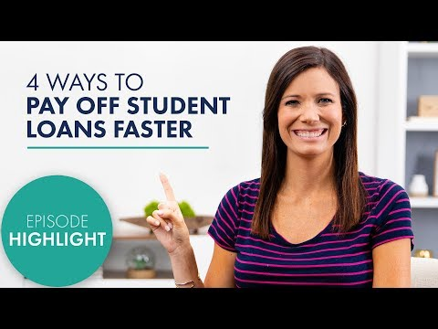 4 Ways to Pay Off Student Loans Faster!