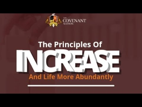 The Principles of Increase And Life More Abundantly  2nd Service  19092021