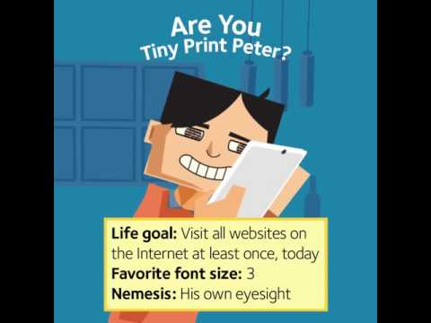 Fight Eye Fatigue: Tiny Print Peter