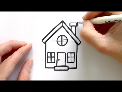How to Draw a Cartoon House - UCc-dOboi5xXo5tNfnu0QT7A