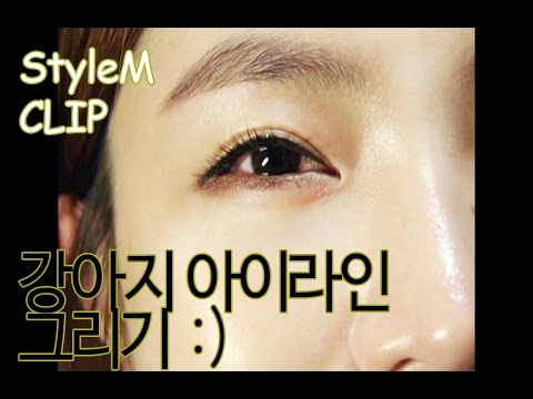 [STYLEMCLIP] How to apply eyeliner / puppy eyes eyeline (강아지 아이라인 그리는 법)