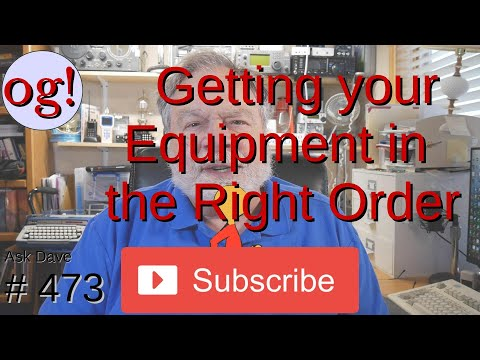 Getting your Equipment in the Right Order (#474)