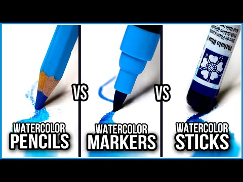 What Is The Difference Between Watercolor Pencils, Markers & Sticks