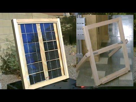"Homemade Solar Panel ""Stand"" - Easy DIY stand (for my DIY solar panel) - Full Instr."