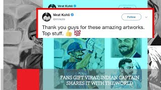 Fans Gift Virat; Indian Captain Shares It With The World