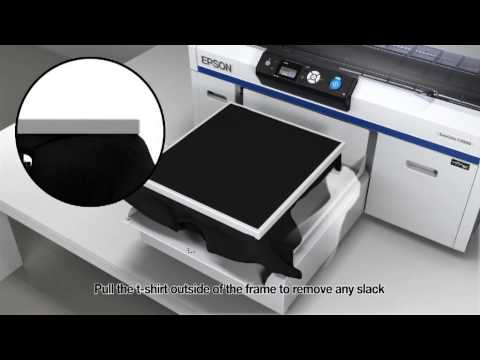 How to Print a Dark Shirt On The F2000