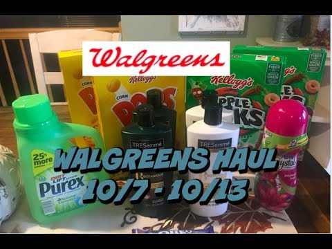 WALGREENS HAUL 10/7 - 10/13   Over a $7 Moneymaker   How did this happen????