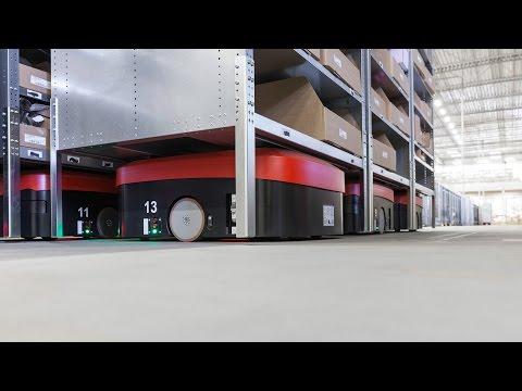 360° at DB Schenker - Ride a rack on a robot!