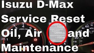 Reset spia olio service ISUZU D MAX