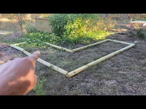 320 Square Feet of Garden Bed to Be Installed Around the 12x12 Timber Frame Pond