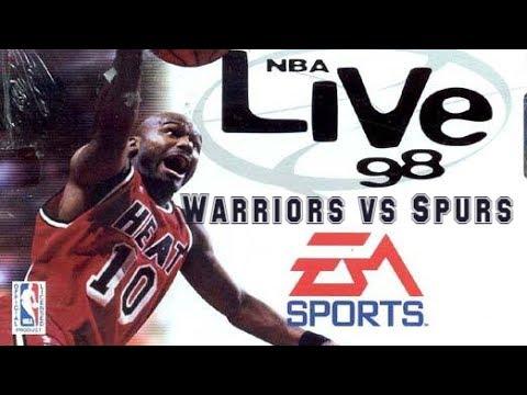 NBA Live 98 (1997) - Super Nintendo - Warriors vs Spurs