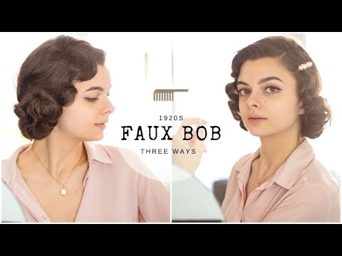 The 1920s Faux Bob | Three Ways