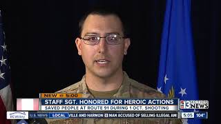 Nellis AFB airman honored for heroism
