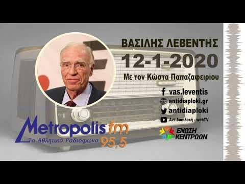 Χάγη και εκλογή ΠτΔ (Βασίλης Λεβέντης, Metropolis FM, Κ. Παπαζαφειρίου, 12-1-2020)