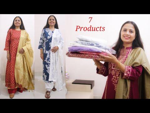 Best Deal on Kurta Set, Dupatta and Footwear - Amazon Shopping Haul