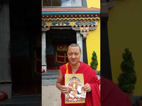 This monk is so grateful for what he received.