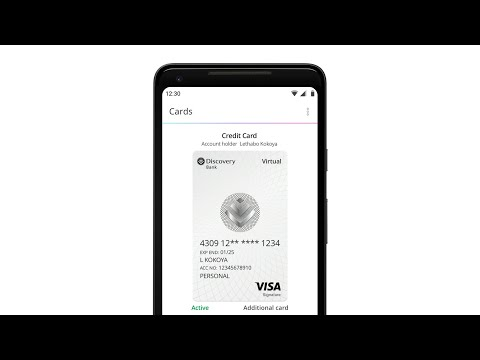 How to set up your Discovery Bank virtual card - Android