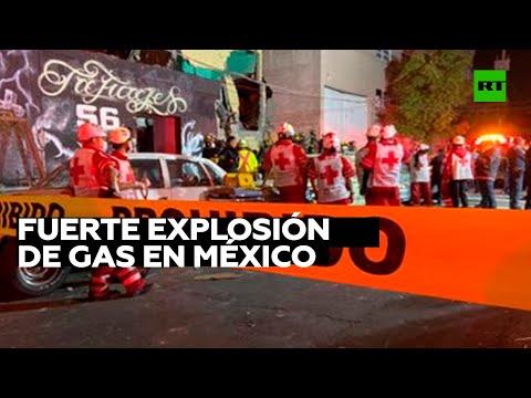 Explosión de gas en una ciudad de México deja muertos