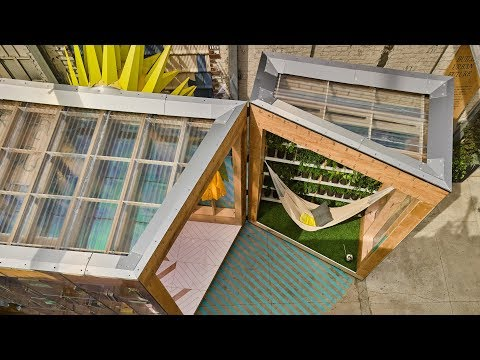 """Bureau V's MINI Living Urban Cabin aims to """"start a conversation about immigration"""""""