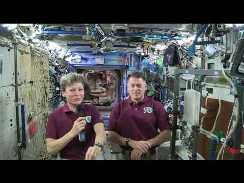 Space Station Crew Members Answer Questions from S…