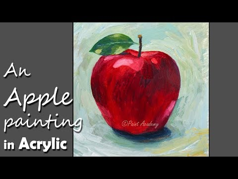 How to Paint An Apple in Acrylic | step by step Video