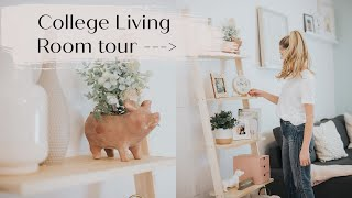 Inside our College Living Room: Makeover & Tour with HomeGoods