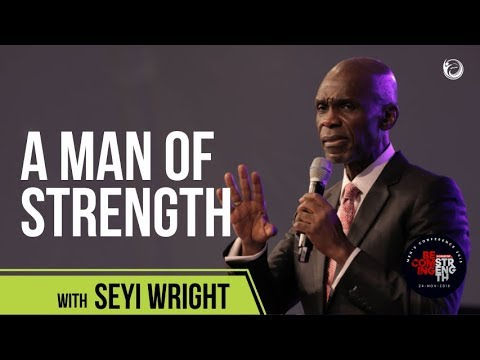 Seyi Wright at the Mens Conference of the Elevation