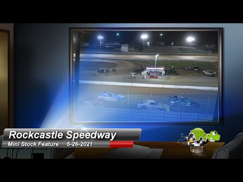 Rockcastle Speedway - Mini Stock Feature - 6/26/2021 - dirt track racing video image