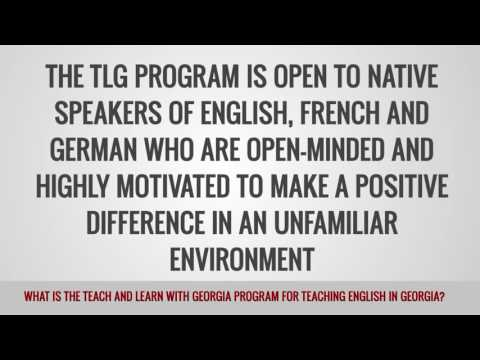 video on the teach and learn with georgia program for TEFL teachers in Georgia