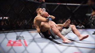 Khabib vs. Martin Kampmann (EA Sports UFC 2) - CPU vs. CPU