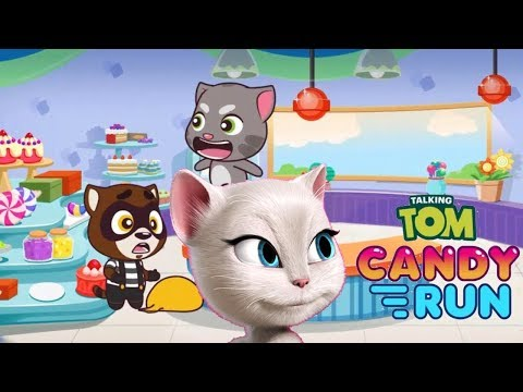 Talking Angela Candy Run - iPhone GamePlay