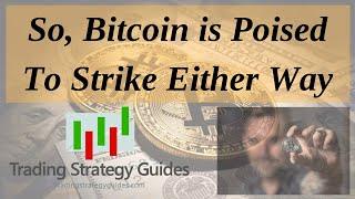 So, Bitcoin Is Poised To Strike Either Way! + AUDNZD, Ripple, CVCO, JNJ, & Amazon