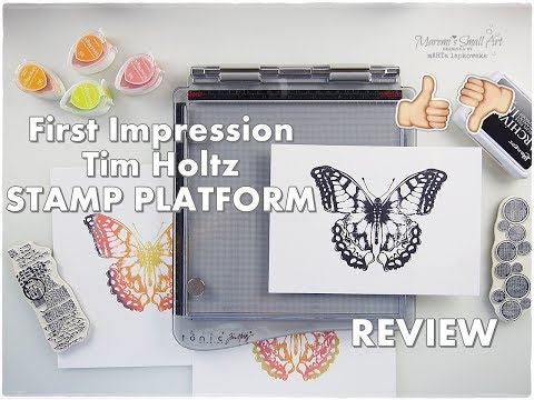 Tim Holtz Stamp Platform Unboxing First Impression Review ♡ Maremi's Small Art ♡